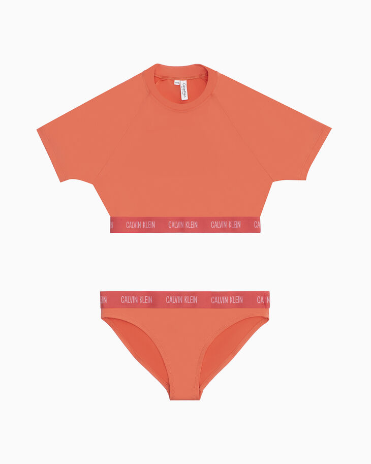 CALVIN KLEIN GIRLS RASHGUARD SET