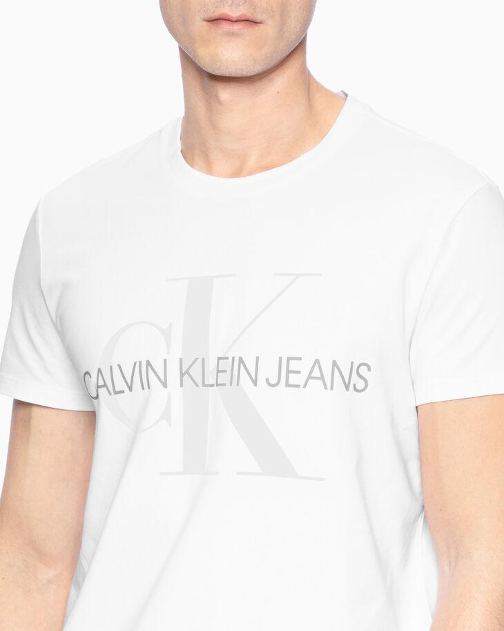 CALVIN KLEIN REFLECTIVE MONOGRAM LOGO TEE