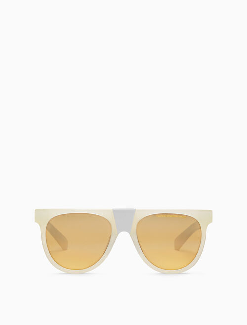 CALVIN KLEIN Metal bridge square sunglasses
