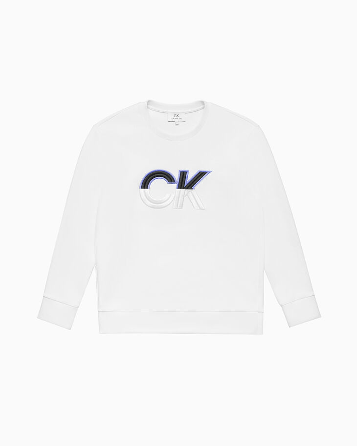 CALVIN KLEIN EMBROIDERED LOGO SWEATSHIRT