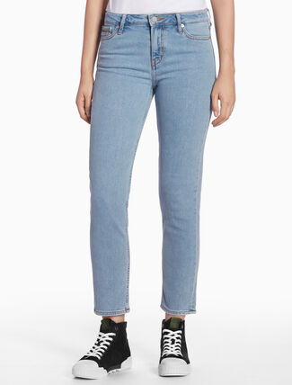 CALVIN KLEIN STRAIGHT ANKLE-LENGTH JEANS