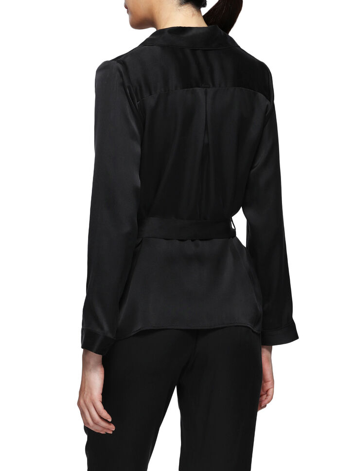 CALVIN KLEIN CK BLACK DARING SILK TOP