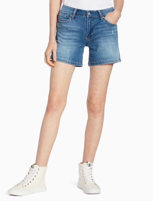 CALVIN KLEIN MID-RISE WEEKEND DENIM SHORTS