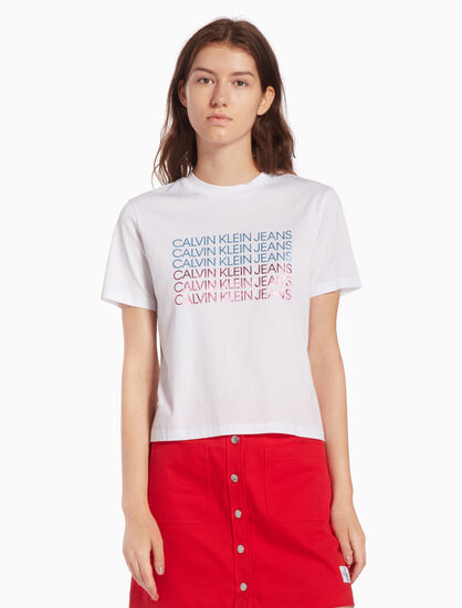 CALVIN KLEIN INSTUTIONAL REPETITION TEE
