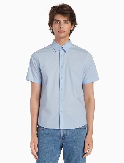 CALVIN KLEIN 37.5 우븐 체크 반소매 셔츠