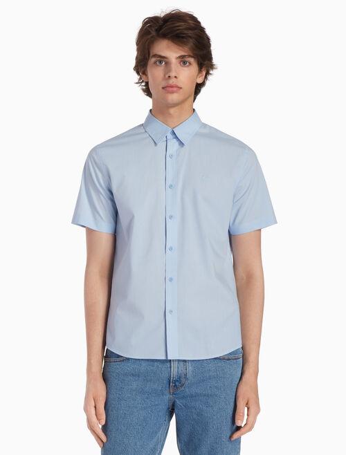 CALVIN KLEIN 平織格紋襯衫
