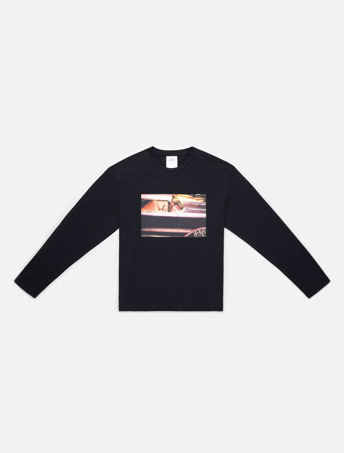 CALVIN KLEIN GRAPHIC CREWNECK LONG SLEEVE TEE