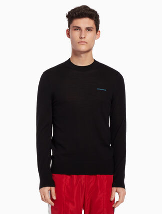 CALVIN KLEIN Logo pullover sweater