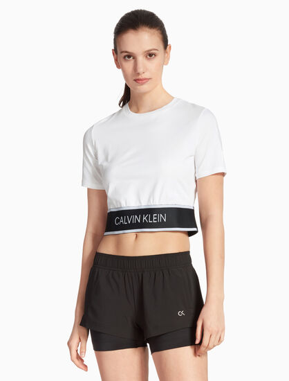 CALVIN KLEIN CROPPED CUT OUT BACK TEE