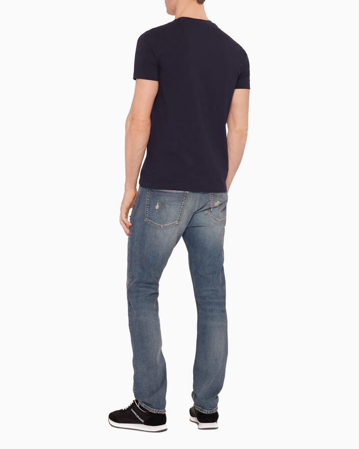 CALVIN KLEIN VELVET FLOCKED LOGO PRINT 티셔츠