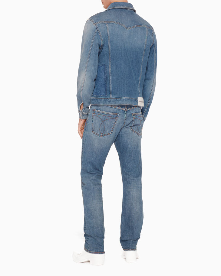 CALVIN KLEIN FOUNDATION PATCHWORK DENIM JACKET