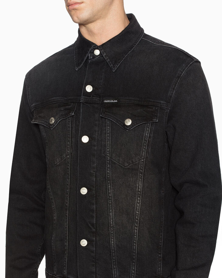 CALVIN KLEIN FOUNDATION DENIM TRUCKER JACKET
