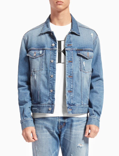 CALVIN KLEIN CLASSIC DENIM TRUCKER JACKET