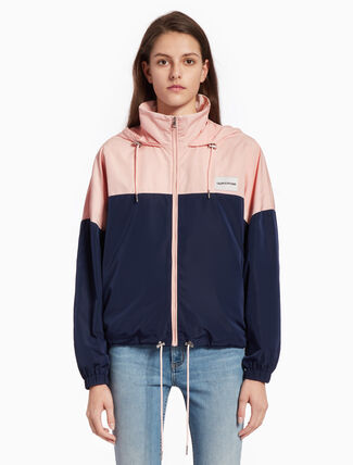 CALVIN KLEIN HOODED ZIP-UP JACKET