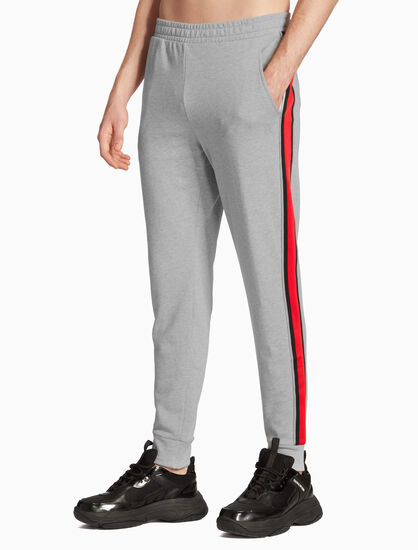 CALVIN KLEIN BOX LOGO STRIPE SWEAT PANTS