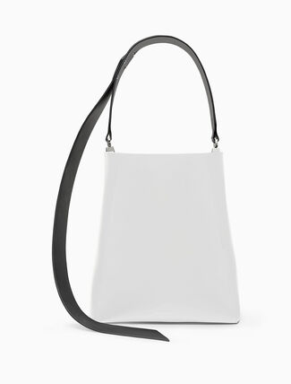 CALVIN KLEIN luxe calf bucket bag