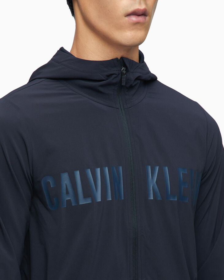 CALVIN KLEIN CK LOGO HOODED WINDBREAKER JACKET