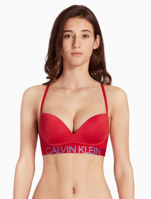 CALVIN KLEIN STATEMENT 1981 MICRO PUSH UP BRALETTE