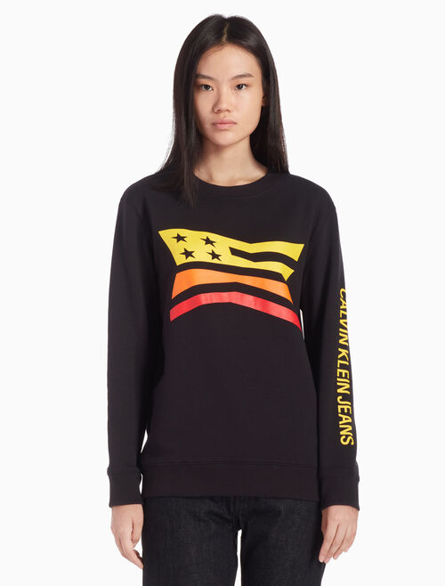 CALVIN KLEIN MODERNIST GRAPHIC SWEATSHIRT