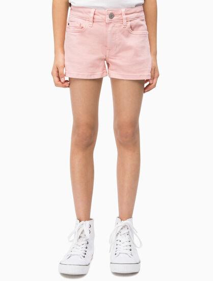 CALVIN KLEIN GIRLS MID RISE 直筒短褲
