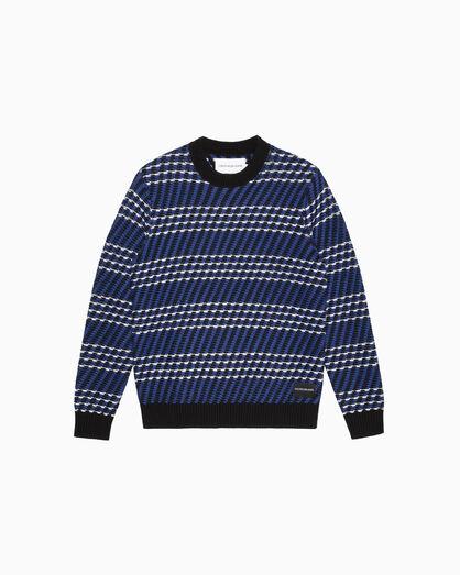 CALVIN KLEIN TEXTURE STITCH 풀오버 스웨터