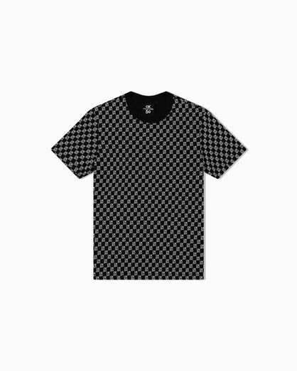 CALVIN KLEIN CK50 LOGO ALL OVER PRINT TEE