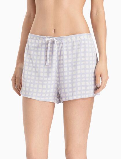 CALVIN KLEIN 平織嫘縈短版睡褲
