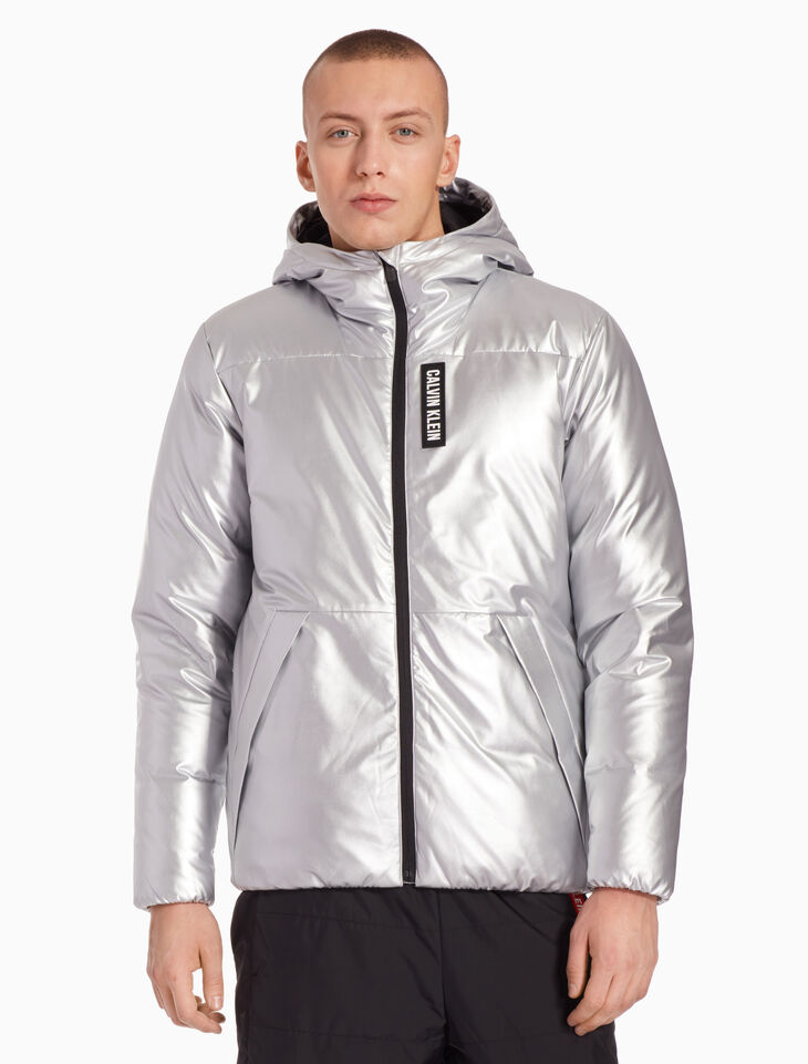 CALVIN KLEIN METALLIC DOWN JACKET