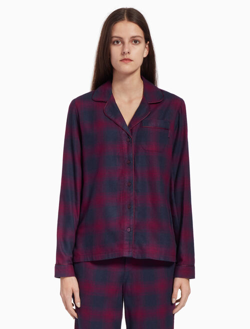 CALVIN KLEIN FLANNEL BUTTON DOWN SHIRT