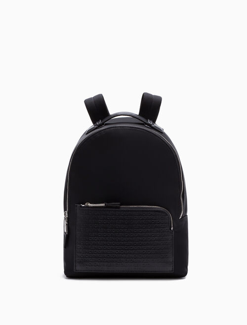CALVIN KLEIN WOVEN LOGO BACKPACK SMALL