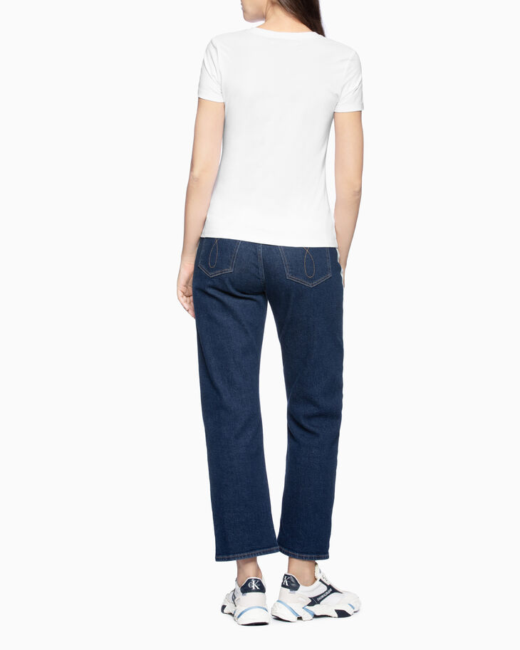 CALVIN KLEIN CKJ 030 SIDE BLEACH HIGH RISE JEANS