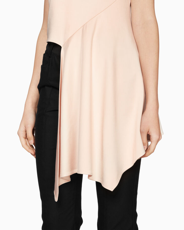 CALVIN KLEIN VISCOSE FLARED HEM TOP