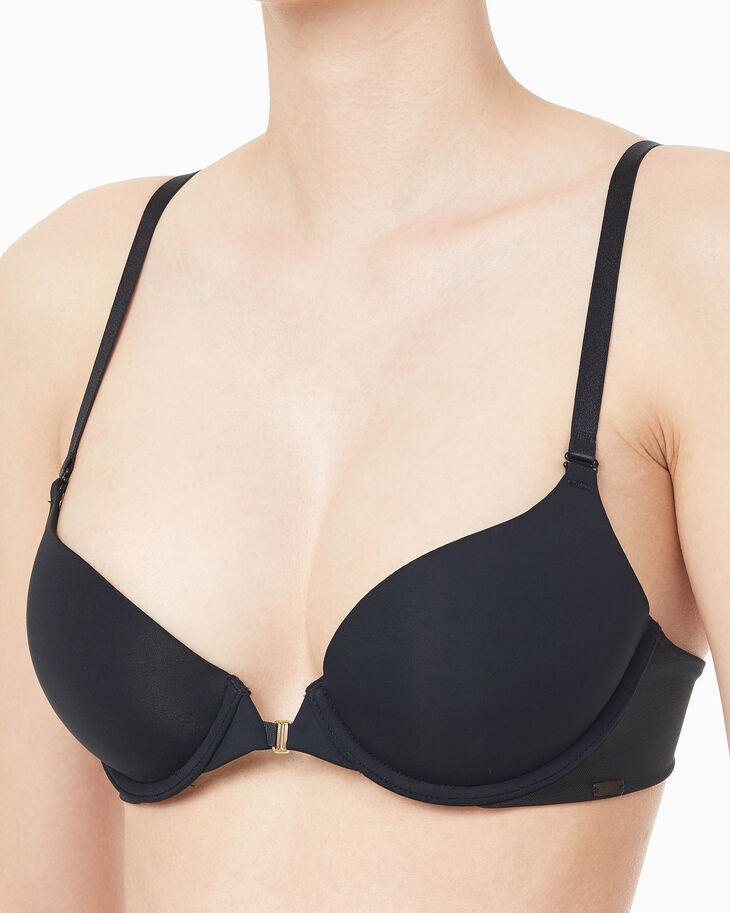 CALVIN KLEIN CK BLACK BARELINGS PUSH UP PLUNGE BRA