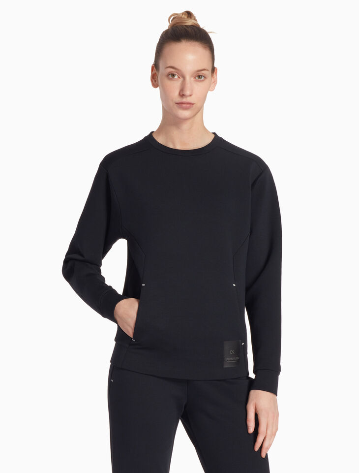 CALVIN KLEIN MODERN SWEAT SPACER PULLOVER SWEATSHIRT