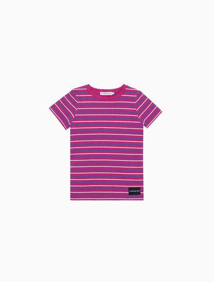 CALVIN KLEIN 리브 니트 슬림 티셔츠