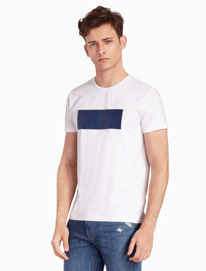 CALVIN KLEIN CALVIN BOX LOGO 티셔츠