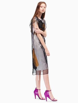 CALVIN KLEIN flared tulle dress