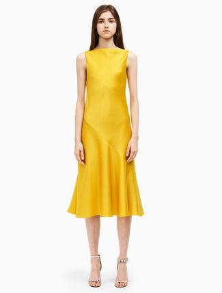 CALVIN KLEIN spiral v back dress