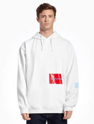 CALVIN KLEIN ロゴ アップリケ付きニットスウェットシャツ
