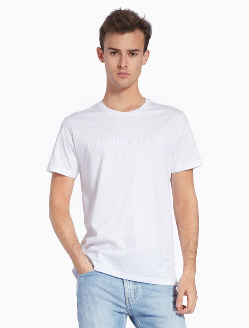 CALVIN KLEIN KNIT EMBROIDERED LOGO TEE