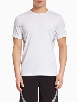 CALVIN KLEIN SHORT-SLEEVE TEE WITH STRIPES