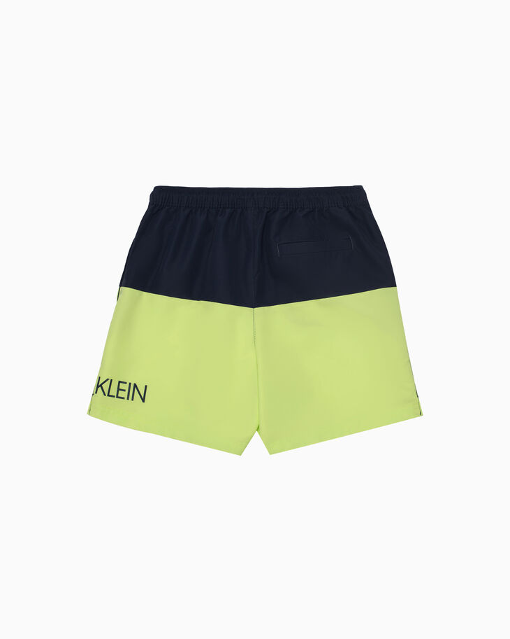 CALVIN KLEIN BOYS COLOR BLOCK SWIM SHORTS
