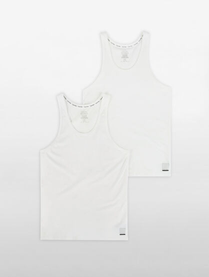 CALVIN KLEIN CALVIN KLEIN ID COTTON TANK 2 PACKS