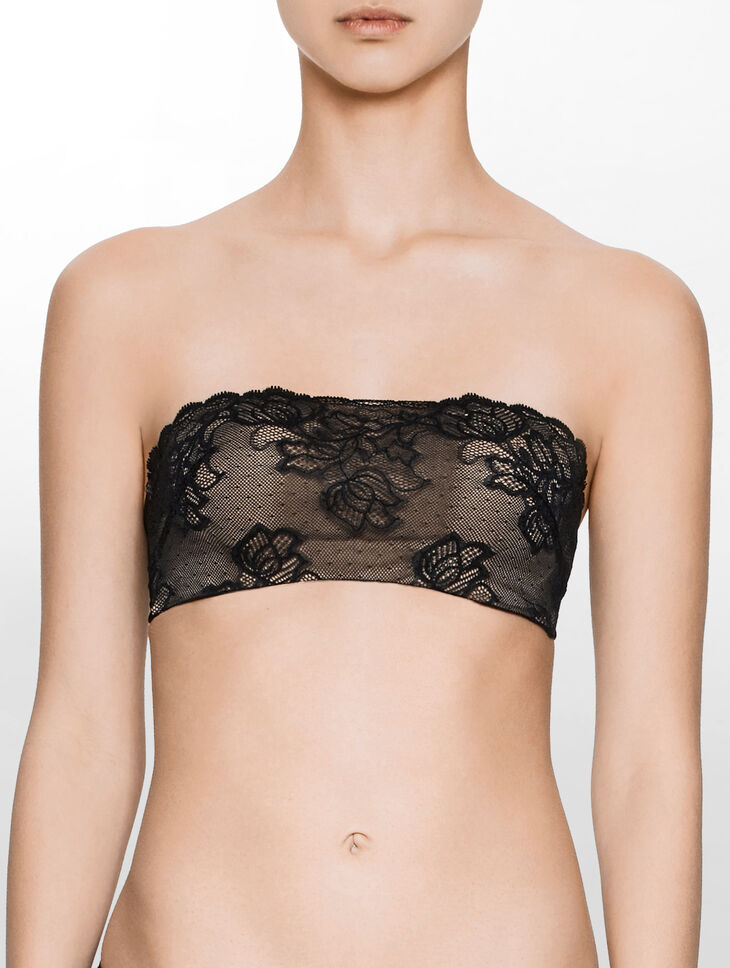 CALVIN KLEIN SEDUCTIVE COMFORT WITH LACE LIGHTLY LINED BANDEAU