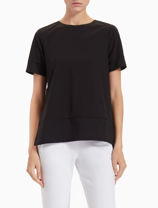 CALVIN KLEIN OPEN BACK TOP WITH SHORT SLEEVES