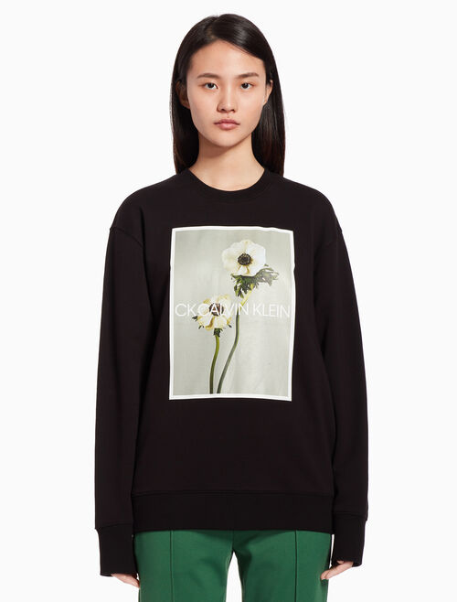 CALVIN KLEIN Flower print sweatshirt
