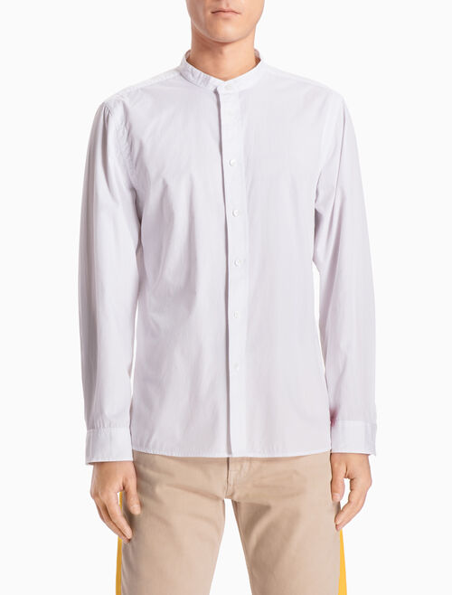 CALVIN KLEIN BAND COLLAR LONG-SLEEVE SHIRT