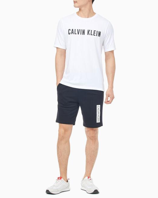 CALVIN KLEIN 남성 레귤러 핏 로고 니트 쇼츠