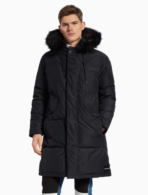 CALVIN KLEIN FUR TRIM DOWN PARKA