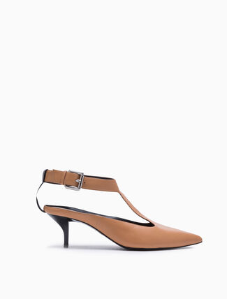CALVIN KLEIN POINTED T-STRAP PUMPS